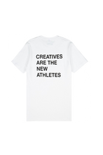 Load image into Gallery viewer, White Creatives Are the New Athletes Tee