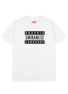 White Graphic Smibanese Tee