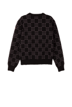 Load image into Gallery viewer, Black Dots On Dots Sweater