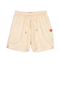 Creme Dots On Dots Shorts
