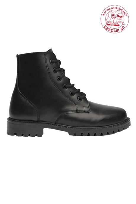 Black Dechase Leather Boots