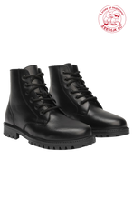 Load image into Gallery viewer, Black 'Keff' Waxy Leather Boots