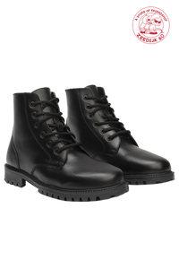Black 'Keff' Waxy Leather Boots