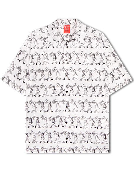White Marching Mascots All-Over Shirt