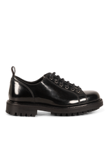 Load image into Gallery viewer, Black Low Leather Bonne Shoes