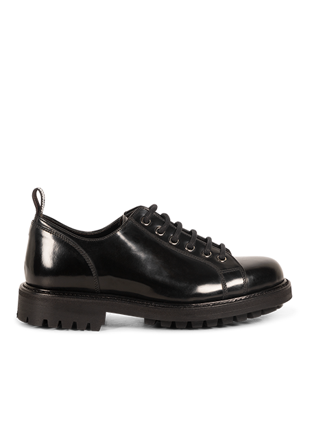 Black Low Leather Bonne Shoes