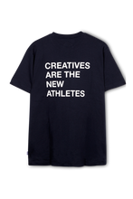 Load image into Gallery viewer, Navy Creatives Are the New Athletes Tee