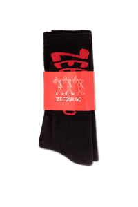 Black Z60 Warped Socks