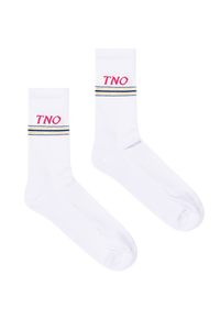 White/Pink Underline Socks