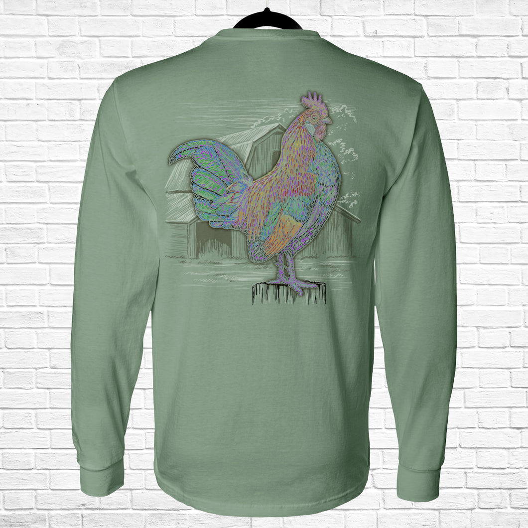 Ribbon Rooster Long Sleeve Tee