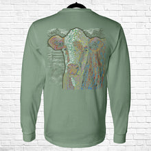 Load image into Gallery viewer, Ribbon Cow Long Sleeve Tee