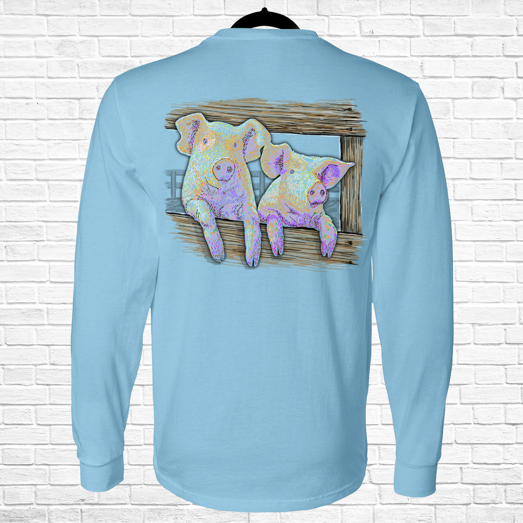 Ribbon Pigs Long Sleeve Tee