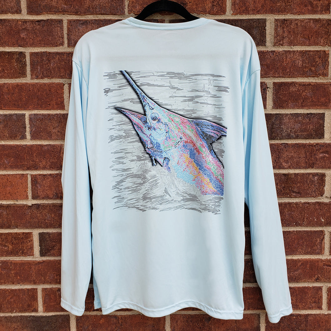 Ribbon Blue Marlin Performance Shirt