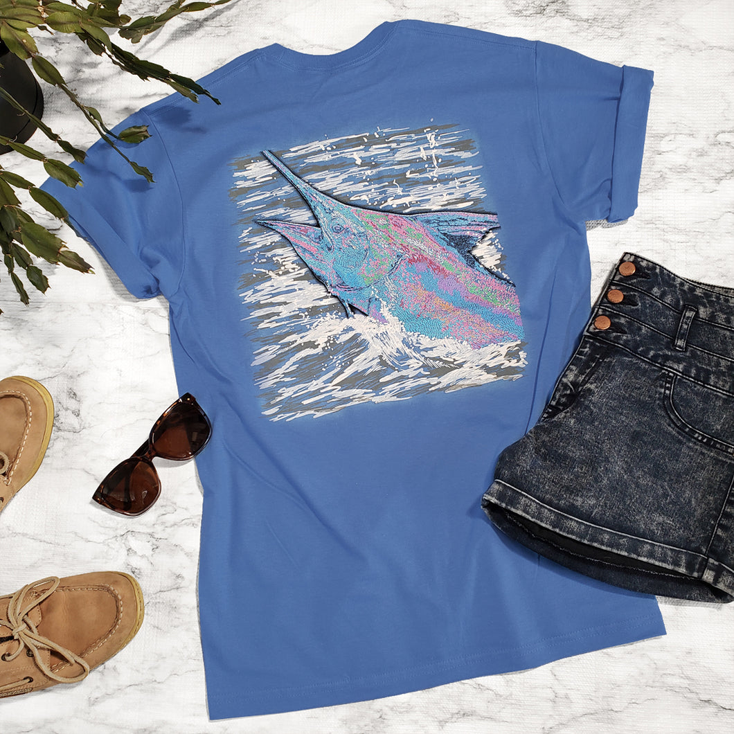 Ribbon Blue Marlin Tee