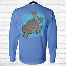 Load image into Gallery viewer, Ribbon Sea Turtle Long Sleeve Tee