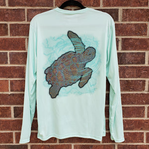 Ribbon Sea Turtle Performance Shirt