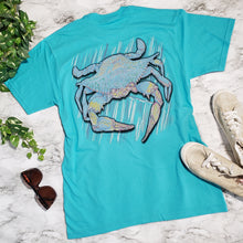 Load image into Gallery viewer, Ribbon Blue Crab Tee