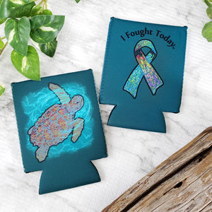 Ribbon Sea Turtle Koozie