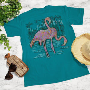 Ribbon Flamingos Tee