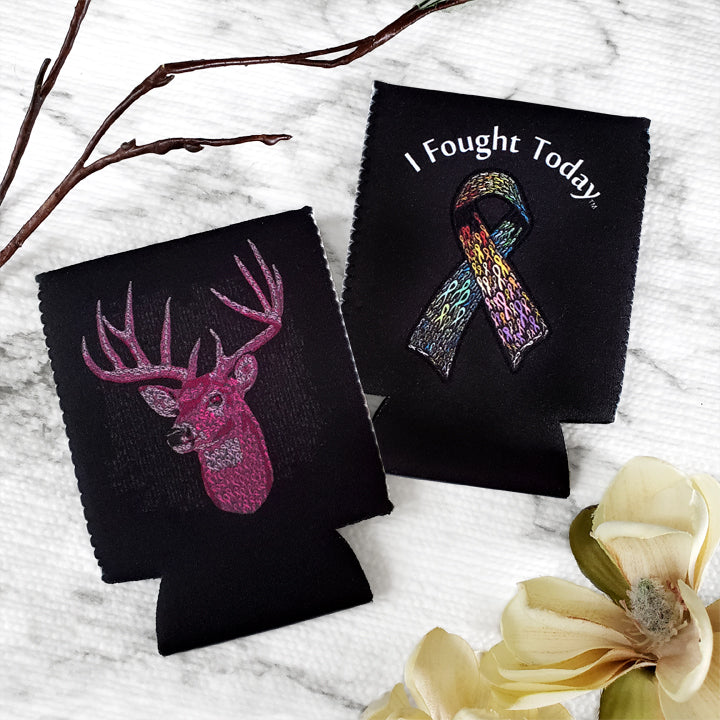 Ribbon Deer Koozie
