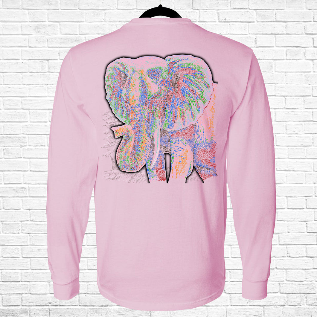 Ribbon Elephant Long Sleeve Tee