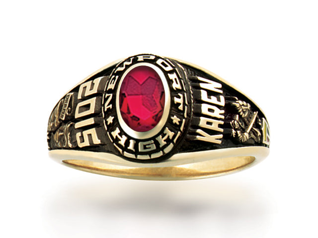 Women's School Ring -Year Name Stone