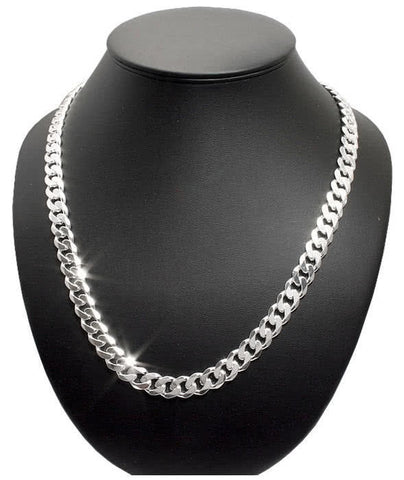 Sterling Silver Curb Heavy Men's Chain size 22""