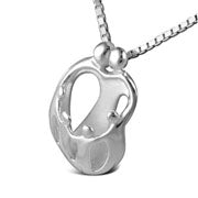 LOVING FAMILY Sterling Silver 2 Parents 4 Children Necklace
