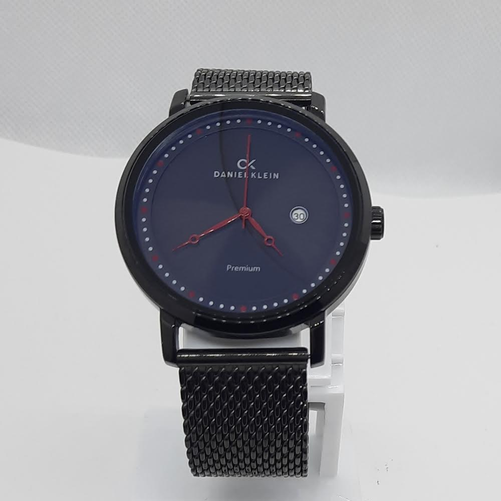 Daniel Klein Premium Black Mesh Watch