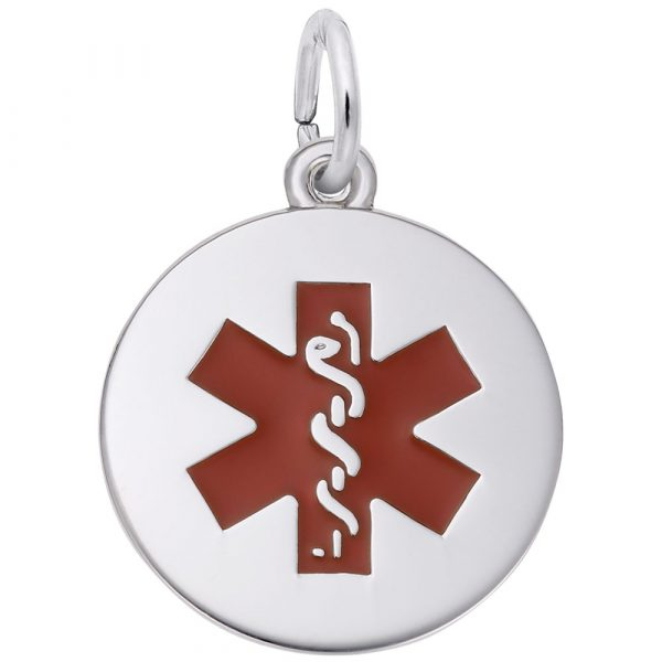 Medical Painted Symbol Pendant Charm