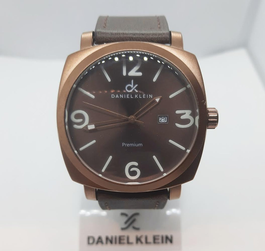 Daniel Klein Premium Brown Bronze Leather Watch