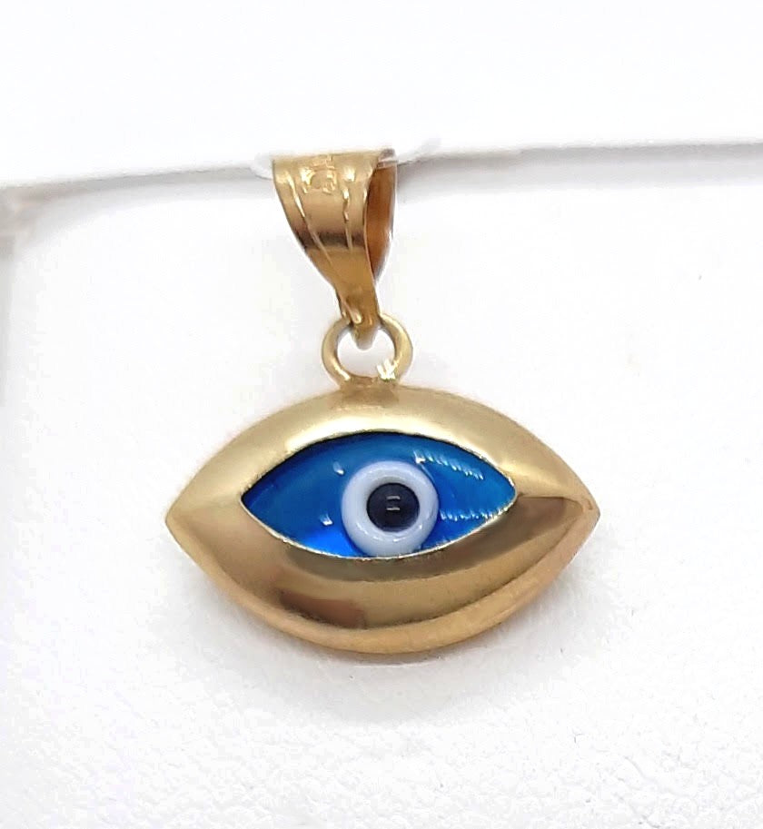 10K Yellow gold Evil eye protection Pendant