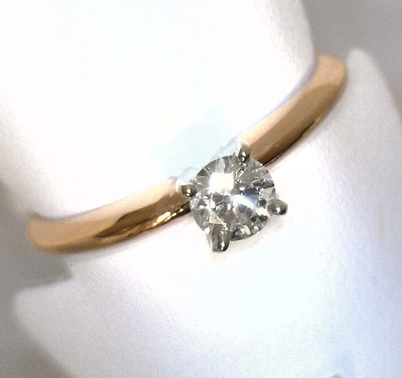 Solitaire 0.30 CTW Diamond 14K rose gold ring