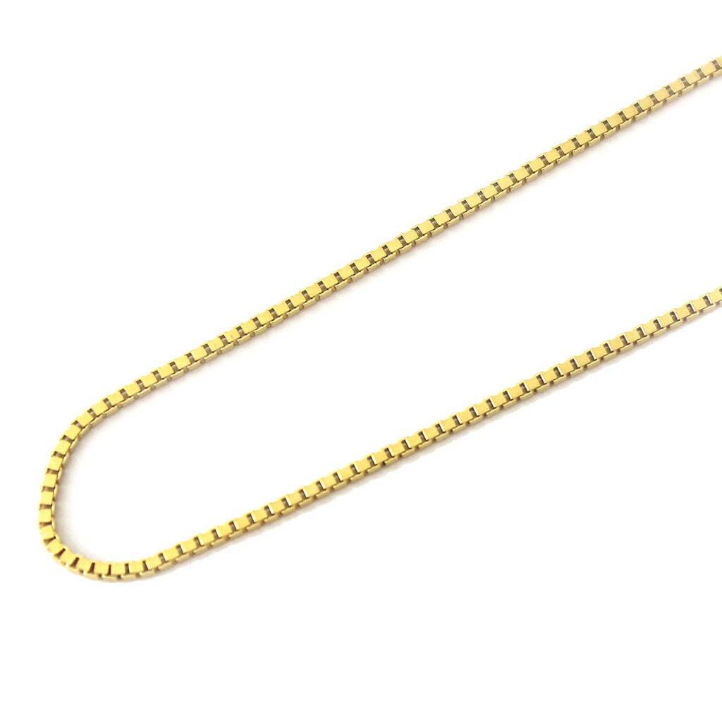 18K YELLOW GOLD BOX CHAIN SIZE 16""