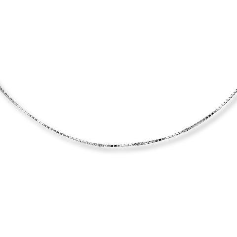 14K WHITE GOLD BOX CHAIN SIZE 16""