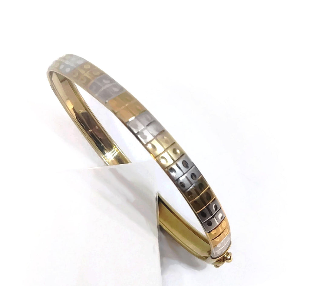 10K Two tone Gold bangle Flex Bracelet