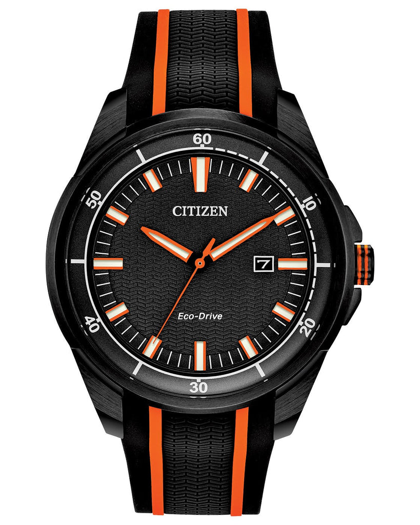 Citizen Drive Quartz Black Dial Black Rubber Men's Watch