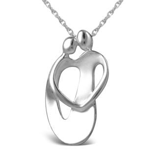 LOVING FAMILY Sterling Silver COUPLE Necklace