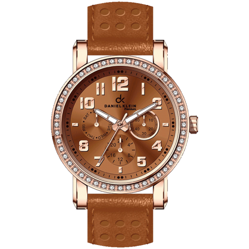 Daniel Klein Bronze Watch Leather Strap
