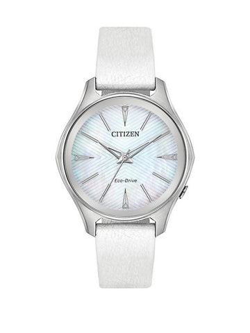 CITIZEN Modena MOP S Steel Vegan Leather Strap