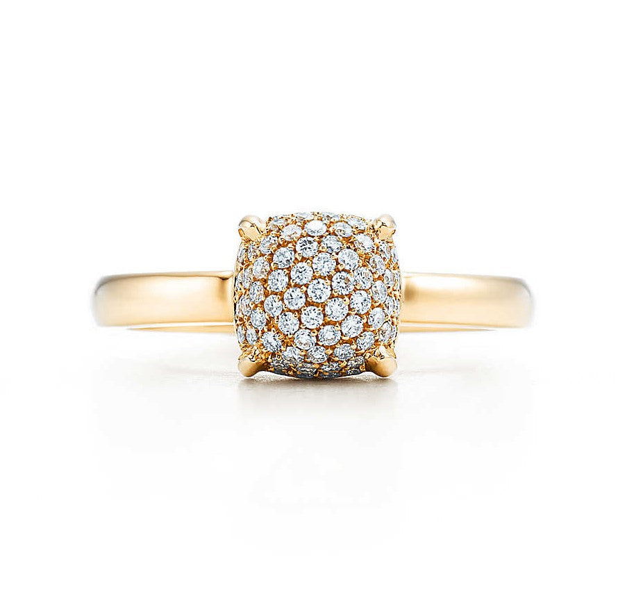 ESTATE Tiffany 18KY Gold Diamond Ring