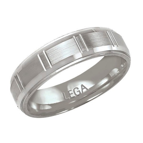 10K White Gold 6 mm Wedding Band Ring
