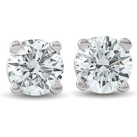 14K WHITE or 14K YELLOW Gold DIAMOND Stud 0.10 to 1.00 CTW Earrings