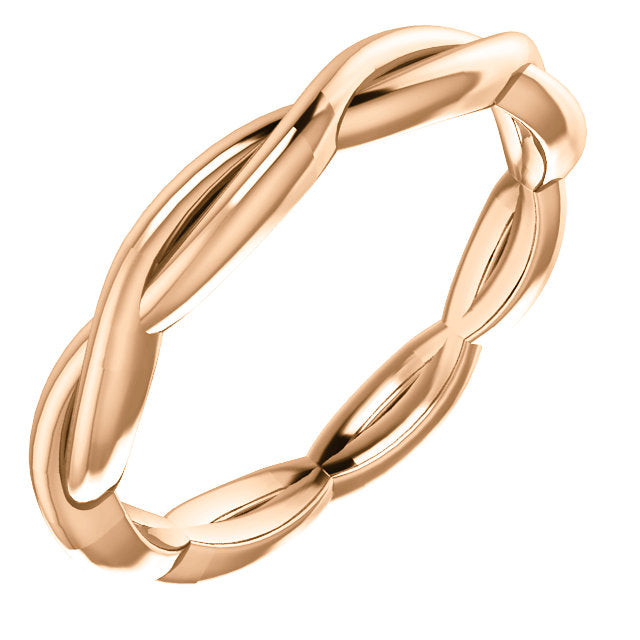14K Gold Woven Band Ring