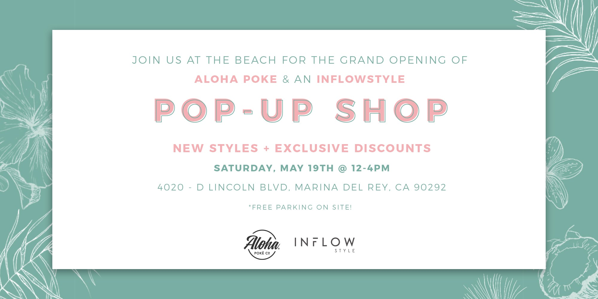 Inflow Pop-Up Shop at Aloha Poke