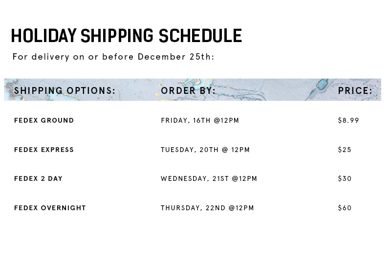 HOLIDAY SHIPPING | INFLOWSTYLE