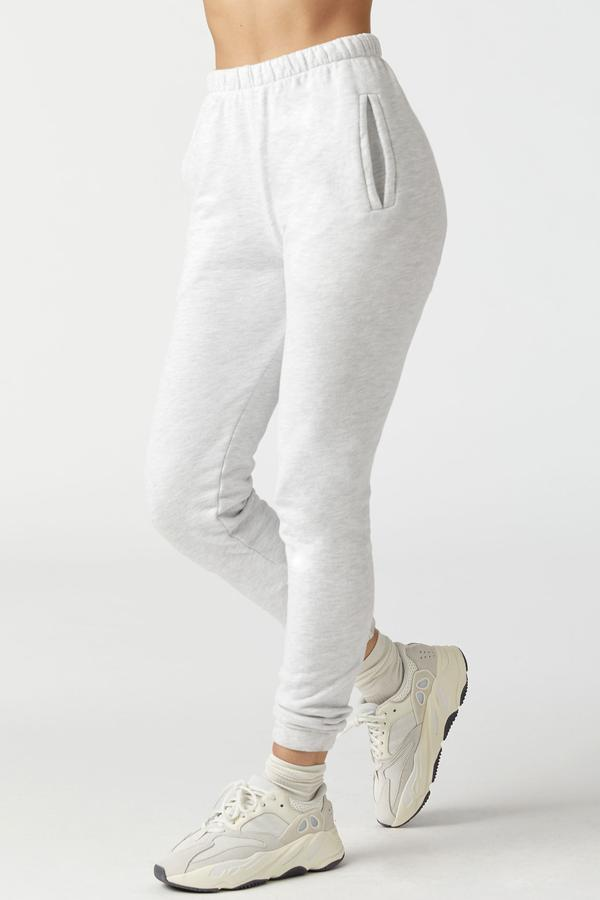 Empire Jogger - Pearl Grey French Terry - Joah Brown | INFLOWSTYLE
