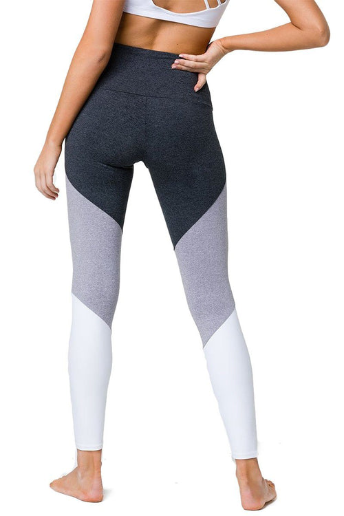High Rise Track Legging - Slate Grey Combo