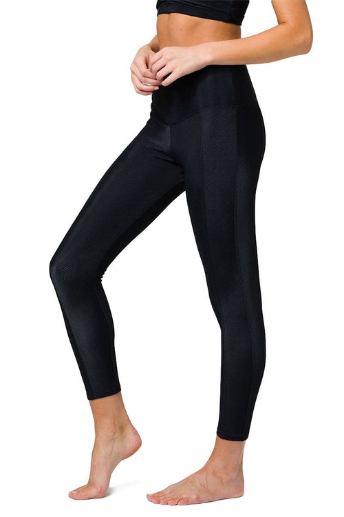 Sweet Heart Midi Legging - Black Rib