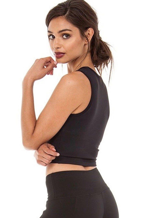 Aspen Crop Top - Black - Strut-This | INFLOWSTYLE